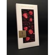 "Dunkle Schokolade ""Ecuador"" 65,1% mit rosa Pfeffer, Erdbeeren, Johannisbeeren schwarz, 100g"