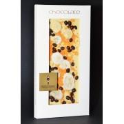 EDELWEIße Schokolade mit Kaffeebohnen, Banane,Orangenstreusel, 100 Gramm