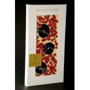 EDELWEIße Schokolade mit LAKRITZE,Himbeeren,Johannisbeeren rot, 100 Gramm