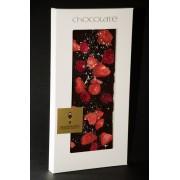"""Dunkle Schokolade """"Ecuador"""" 65,1% mit Himbeeren, Erdbeeren, Heidelbeeren, Silber, 100g"""
